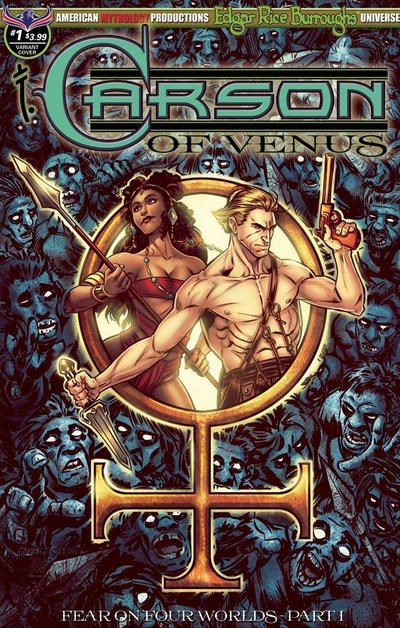 Cover for Edgar Rice Burroughs' Carson of Venus: Fear on Four Worlds (American Mythology Productions, 2018 series) #1 [Main Cover]