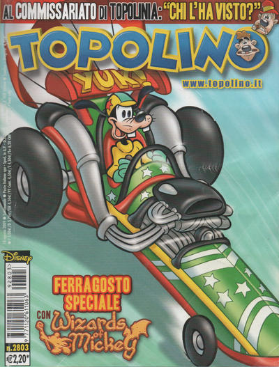 Cover for Topolino (The Walt Disney Company Italia, 1988 series) #2803