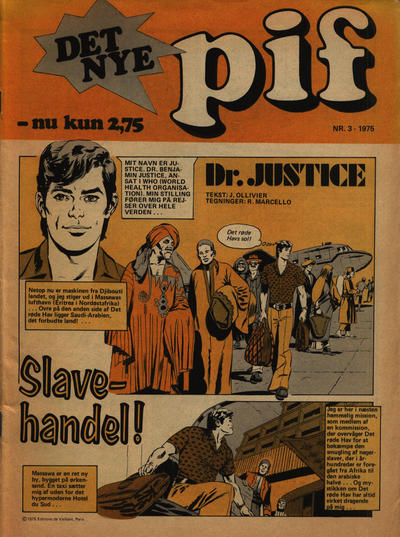 Cover for Pif (Egmont, 1973 series) #3/1975