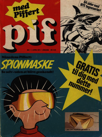 Cover for Pif (Egmont, 1973 series) #1/1973