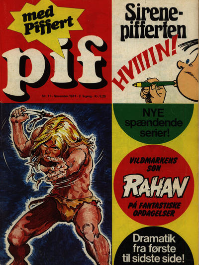 Cover for Pif (Egmont, 1973 series) #11/1974