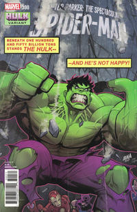 Cover Thumbnail for Peter Parker: The Spectacular Spider-Man (Marvel, 2017 series) #300 [Variant Edition - Hulk - David Nakayama Cover]