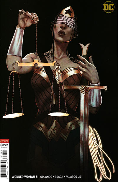 """Cover for Wonder Woman (DC, 2016 series) #51 [Stanley """"Artgerm"""" Lau Cover]"""