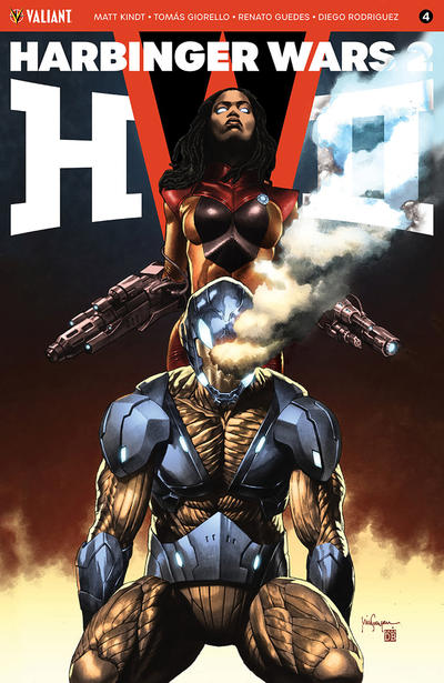 Cover for Harbinger Wars 2 (Valiant Entertainment, 2018 series) #4 [Cover B - Mico Suayan]