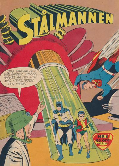 Cover for Stålmannen (Centerförlaget, 1949 series) #3/1960