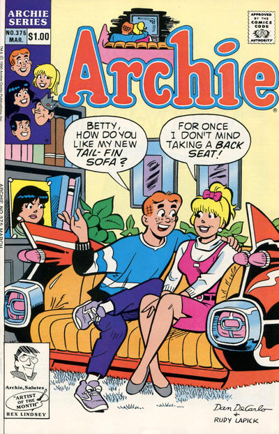 Cover for Archie (Archie, 1959 series) #375 [Newsstand]