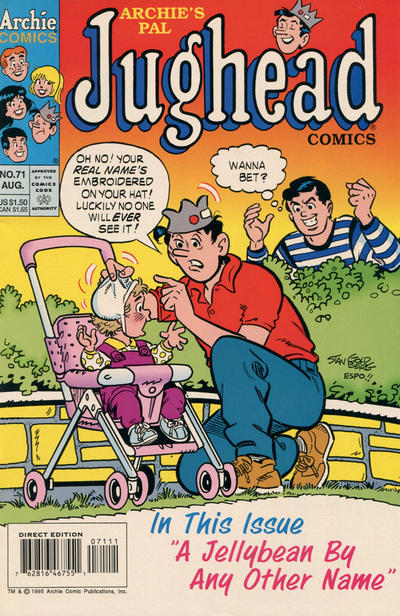 Cover for Archie's Pal Jughead Comics (Archie, 1993 series) #71 [Newsstand]