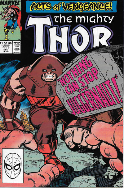 Cover for Thor (Marvel, 1966 series) #411 [Newsstand]