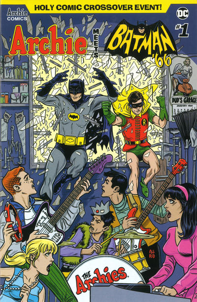 Cover for Archie Meets Batman '66 (Archie, 2018 series) #1 [Cover A Michael Allred & Laura Allred]