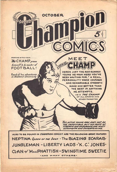 Cover for Champion Comics (Worth Carnahan, 1939 series) #1