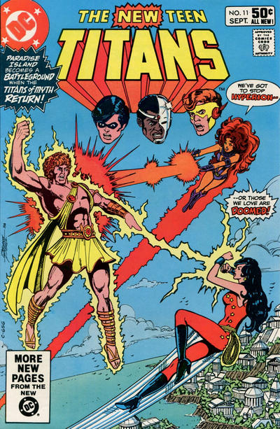Cover for The New Teen Titans (DC, 1980 series) #11 [Newsstand]