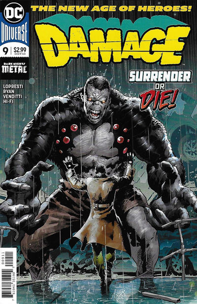 Cover for Damage (DC, 2018 series) #9
