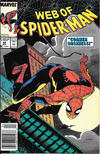 Cover for Web of Spider-Man (Marvel, 1985 series) #49 [Newsstand]