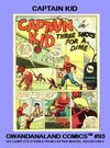 Cover for Gwandanaland Comics (Gwandanaland Comics, 2016 series) #93 - Captain Kid