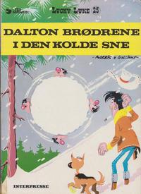 Cover Thumbnail for Lucky Luke (Interpresse, 1971 series) #25 - Dalton Brødrene I Den Kolde Sne