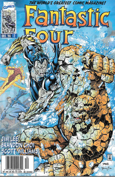 Cover for Fantastic Four (Marvel, 1996 series) #2 [Direct Edition]
