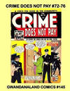 Cover for Gwandanaland Comics (Gwandanaland Comics, 2016 series) #145 - Crime Does Not Pay #72-76