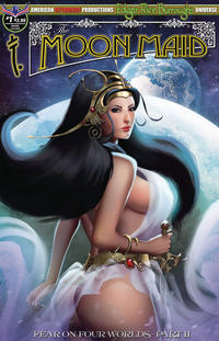Cover Thumbnail for Edgar Rice Burroughs' The Moon Maid: Fear on Four Worlds (American Mythology Productions, 2018 series) #1 [Main Cover]