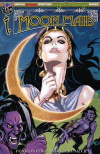 Cover Thumbnail for Edgar Rice Burroughs' The Moon Maid: Fear on Four Worlds (American Mythology Productions, 2018 series) #1 [Visions Cover]