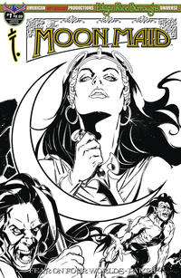 Cover Thumbnail for Edgar Rice Burroughs' The Moon Maid: Fear on Four Worlds (American Mythology Productions, 2018 series) #1 [Limited Editon Sketch Cover]
