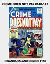 Cover for Gwandanaland Comics (Gwandanaland Comics, 2016 series) #156 - Crime Does Not Pay #140-147