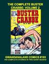 Cover for Gwandanaland Comics (Gwandanaland Comics, 2016 series) #193 - The Complete Buster Crabbe: Volume 2