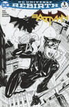 Cover for Batman (DC, 2016 series) #1 [Midtown Comics Terry and Rachel Dodson Black and White Cover]