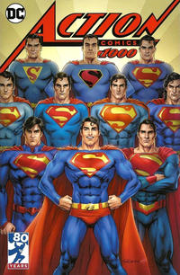 Cover Thumbnail for Action Comics (DC, 2011 series) #1000 [Kings Comics Exclusive Nicola Scott Cover]