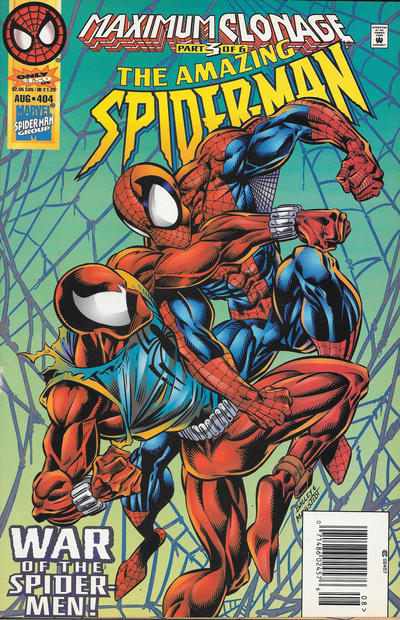 Cover for The Amazing Spider-Man (Marvel, 1963 series) #404 [Direct Edition]