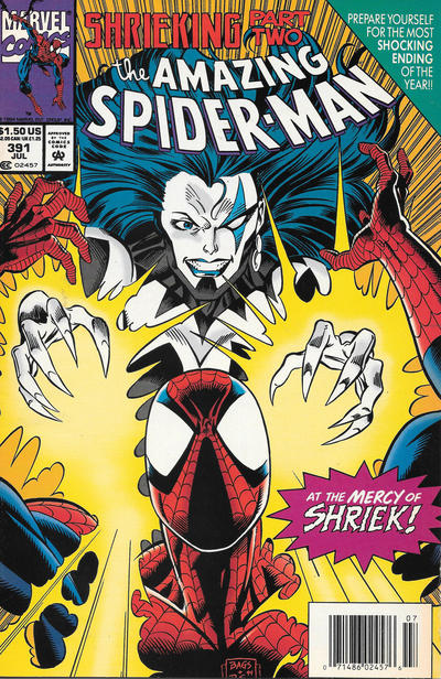 Cover for The Amazing Spider-Man (Marvel, 1963 series) #391 [Newsstand]