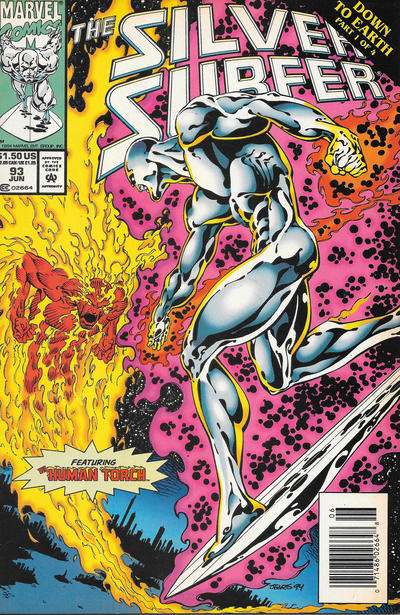 Cover for Silver Surfer (Marvel, 1987 series) #93 [Newsstand]