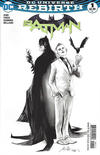 Cover for Batman (DC, 2016 series) #1 [Fried Pie Rafael Albuquerque Black and White Cover]