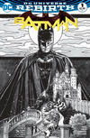 Cover for Batman (DC, 2016 series) #1 [Zapp! Comics Exclusive Tony Harris Black and White Variant]