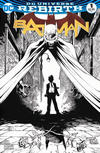 Cover for Batman (DC, 2016 series) #1 [Epic Comics Exclusive Tony Daniel Black and White Variant]