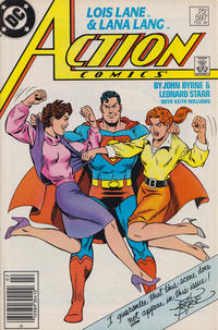 Cover Thumbnail for Action Comics (DC, 1938 series) #597 [Newsstand]