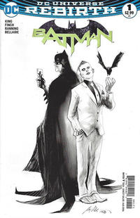 Cover Thumbnail for Batman (DC, 2016 series) #1 [Fried Pie Exclusive Rafael Albuquerque Black and White Variant]