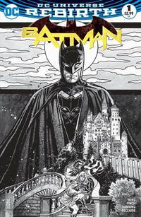 Cover Thumbnail for Batman (DC, 2016 series) #1 [Zapp! Comics Exclusive Tony Harris Black and White Variant]