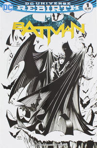 Cover Thumbnail for Batman (DC, 2016 series) #1 [Comic Con Box Exclusive Barry Kitson Black and White Variant]