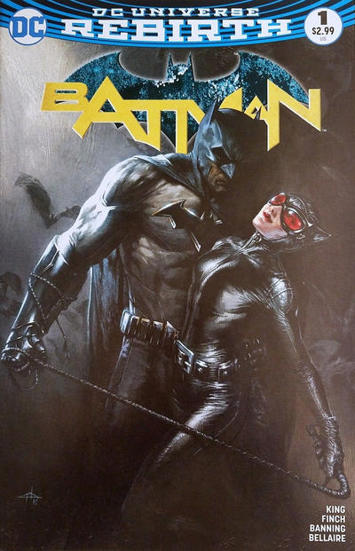 Cover for Batman (DC, 2016 series) #1 [Tim Sale Cover]