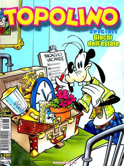 Cover for Topolino (The Walt Disney Company Italia, 1988 series) #2383
