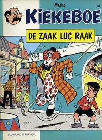 Cover Thumbnail for Kiekeboe (Standaard Uitgeverij, 1990 series) #34 - De zaak Luc Raak