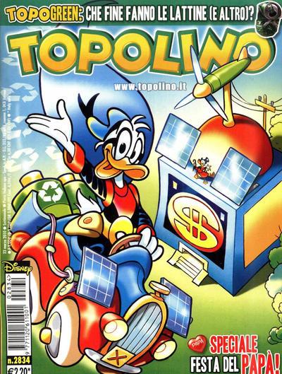 Cover for Topolino (The Walt Disney Company Italia, 1988 series) #2834