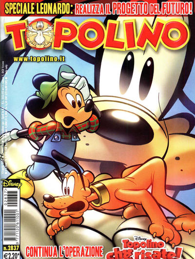Cover for Topolino (The Walt Disney Company Italia, 1988 series) #2837