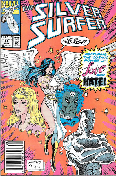 Cover for Silver Surfer (Marvel, 1987 series) #66 [Direct]