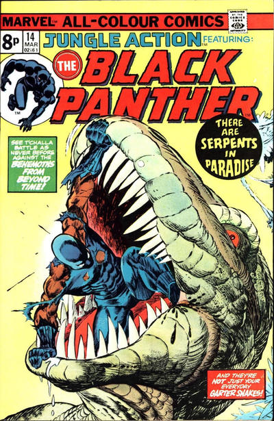 Cover for Jungle Action (Marvel, 1972 series) #14 [British]