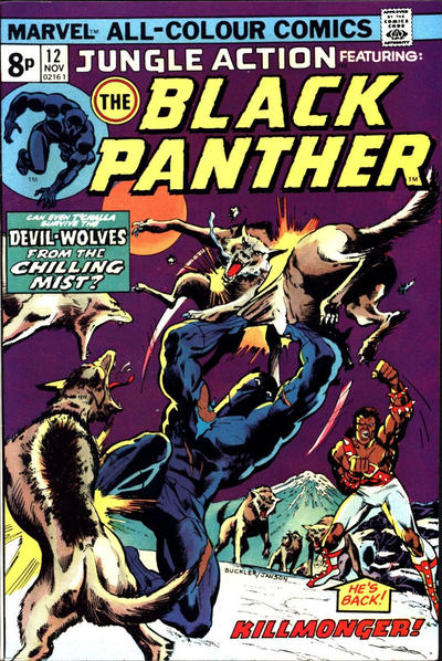 Cover for Jungle Action (Marvel, 1972 series) #12 [British]