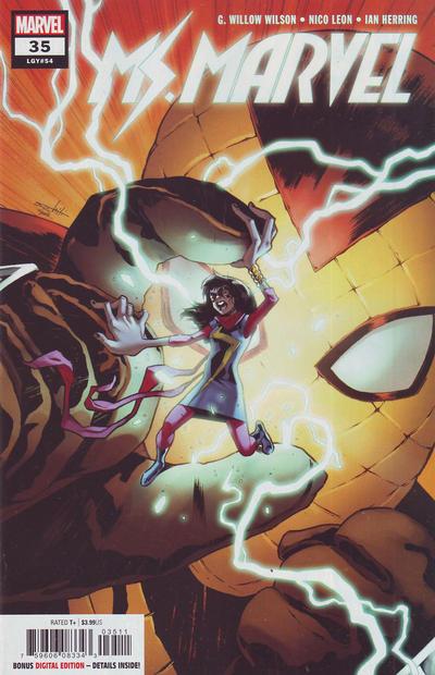 Cover for Ms. Marvel (Marvel, 2016 series) #35
