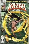 Cover for Ka-Zar the Savage (Marvel, 1981 series) #2 [British]