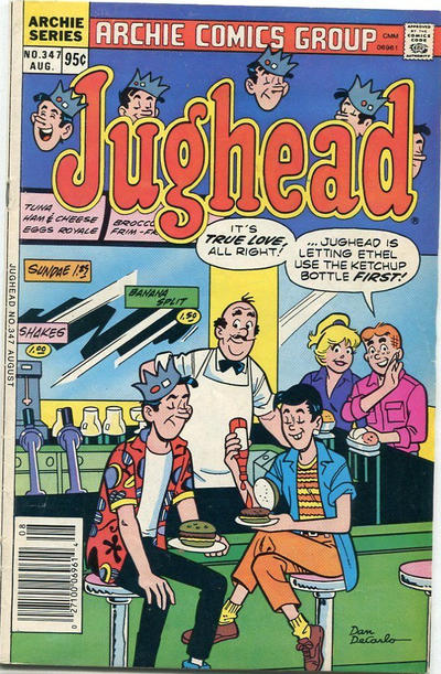 Cover for Jughead (Archie, 1965 series) #347 [Canadian]
