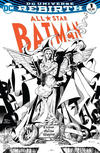 Cover Thumbnail for All Star Batman (2016 series) #1 [Scorpion Comics Exclusive Barry Kitson Black and White Variant]